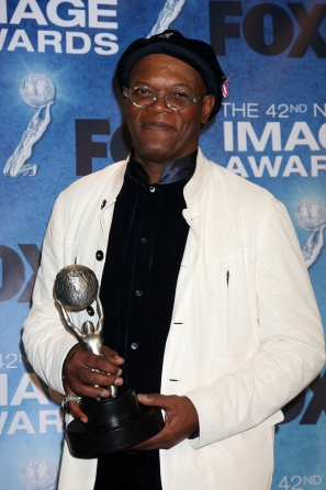 LOS ANGELES -  4: Samuel L. Jackson in the Press Room of the 42n